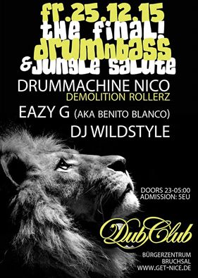 25.12.2015: Drum and Bass @ Dub Club, Bruchsal